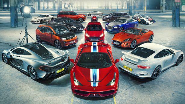 Top Gear công bố những mẫu xe của năm 2013