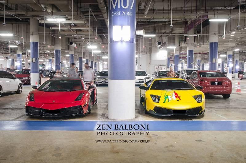 """Dàn """"bò"""" Lamborghini xếp hàng đợi chủ ở bữa tiệc đêm"""