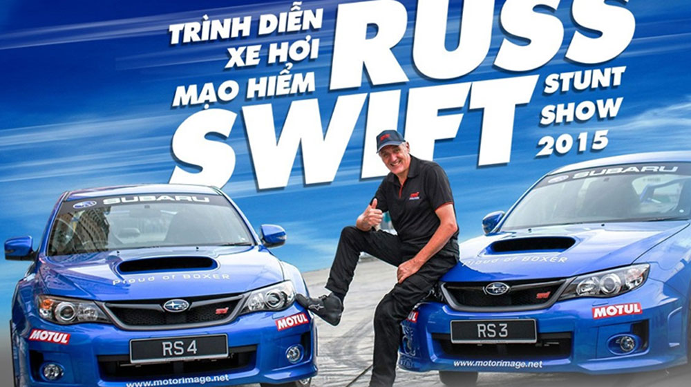 Kỷ lục gia Russ Swift sắp tái ngộ khán giả Việt Nam