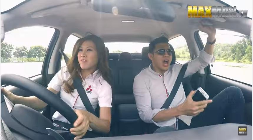 """Sale Mitsubishi khiến khách hàng """"phát hoảng"""" khi drift xe"""