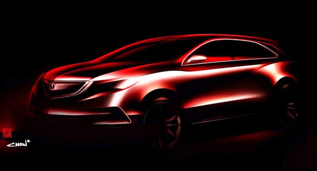 Acura tiết lộ phác thảo MDX 2014