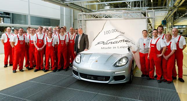 Chiếc Porsche Panamera 100.000 tại Leipzig xuất xưởng