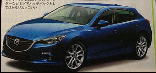 Tạp chí Nhật để lộ hình ảnh Mazda3 2014