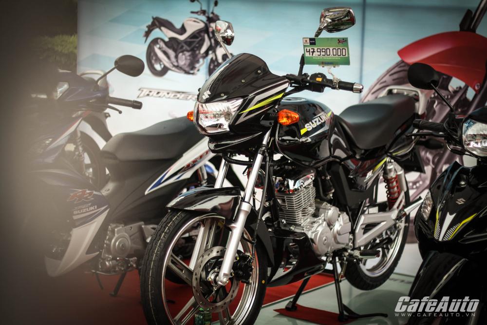 Cận cảnh xe côn tay Suzuki Thunder 150 vừa ra mắt