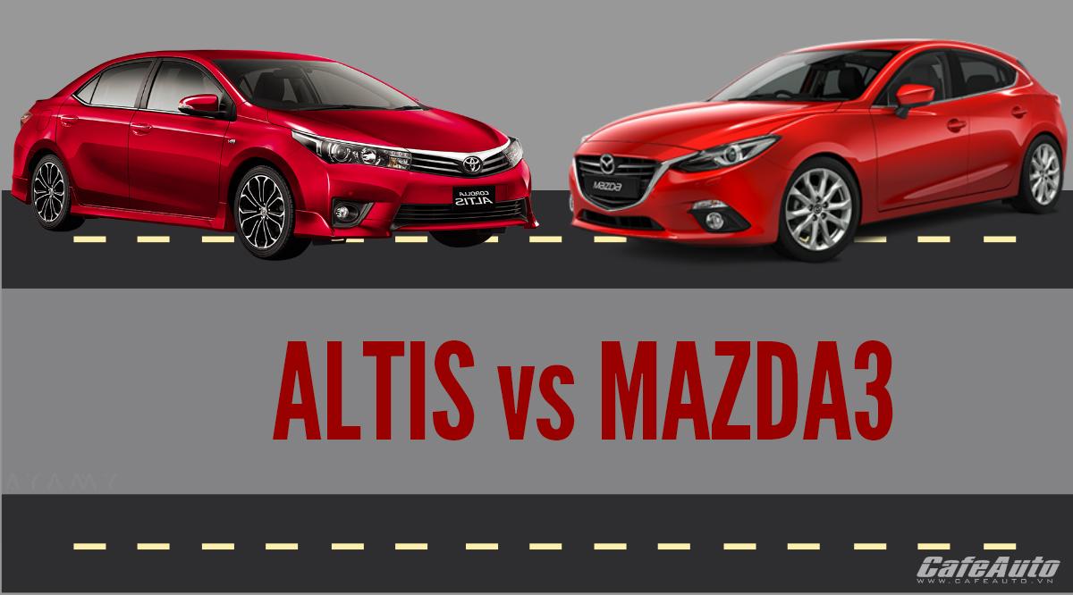 Infographic:Toyota Corolla Altis và Mazda3 nên chọn xe nào?