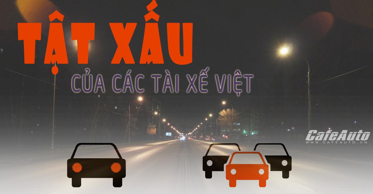 Infographic: Những tật xấu của các tài xế Việt