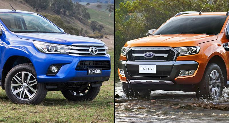 Ford Ranger và Toyota Hilux: Kẻ tám lạng, người nửa cân