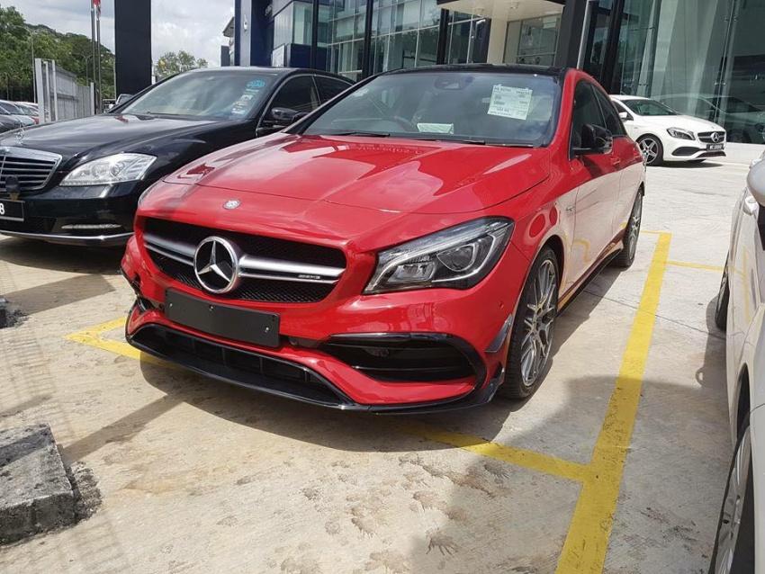 Mercedes-AMG CLA 45 facelift lộ diện tại Malaysia