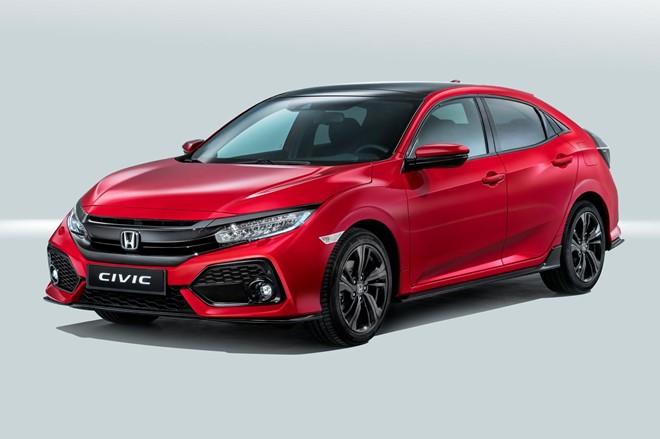 Honda Civic Hatchback 2017 xuất hiện tại đại lý
