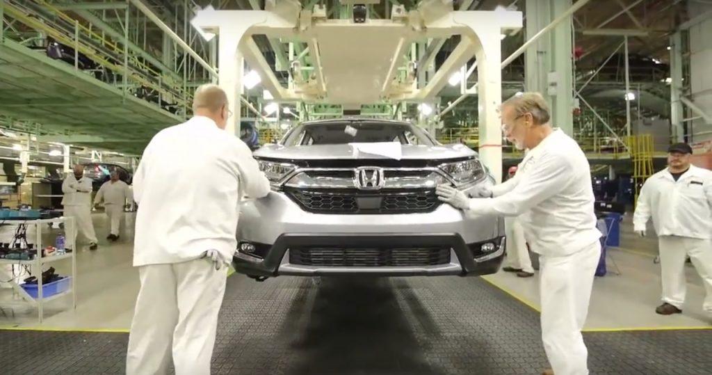 Honda CR-V 2017 bắt đầu sản xuất ở Ohio