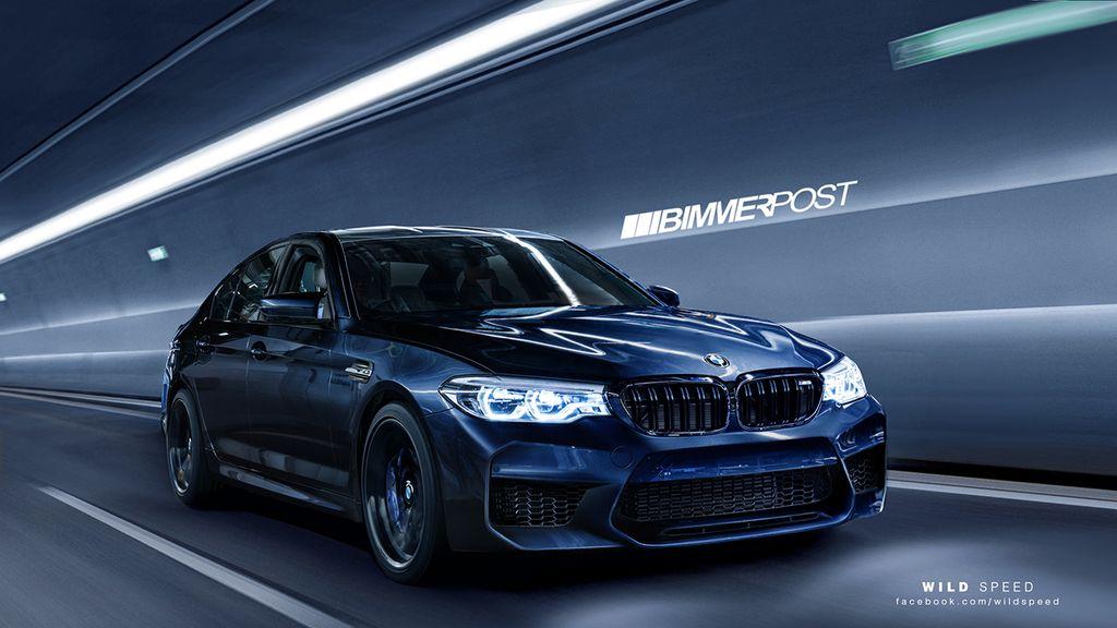 Lộ diện hình ảnh thực tế BMW M5 2018 qua phác họa