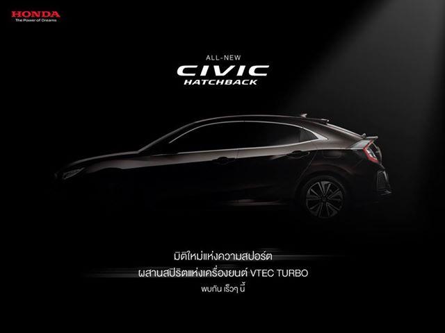 Honda Civic Hatchback 2017 lên lịch ra mắt tại Thái Lan