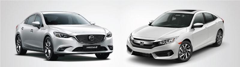 Gần 1 tỷ đồng, chọn Honda Civic 2017 hay Mazda 6 2.0L premium?