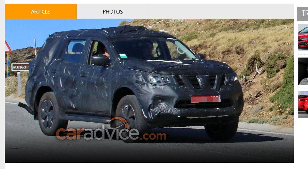 SUV Nissan Navara 2018 lộ diện trong lần đầu chạy thử