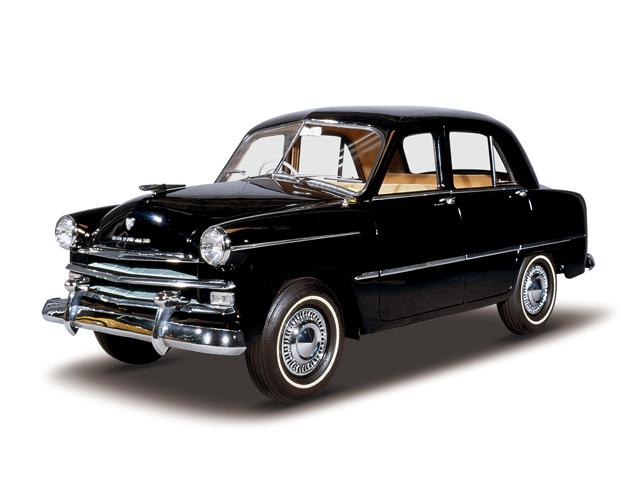 1954 Prince Sedan Deluxe - Máy FG4A (4-cyl. in line, OHV), 1,484cc, 33kW (45PS), tốc độ tối đa 110kmh