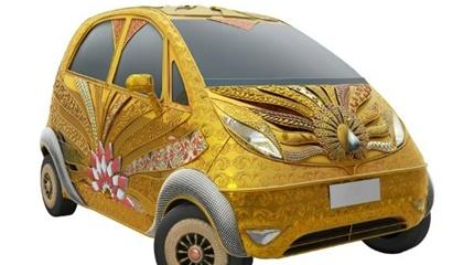 Cận cảnh Tata Nano dát gần 80 kg vàng