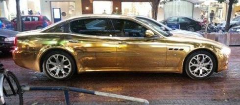 Siêu xe Maserati Quattroporte mạ vàng