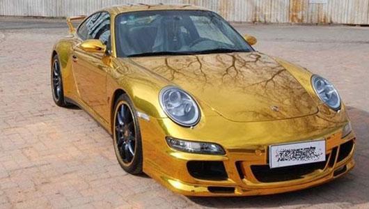 Porsche 911 mạ vàng tại Trung Quốc