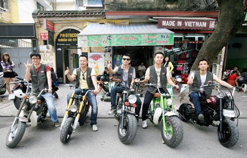 Thú chơi môtô mini độc đáo ở Hà Nội