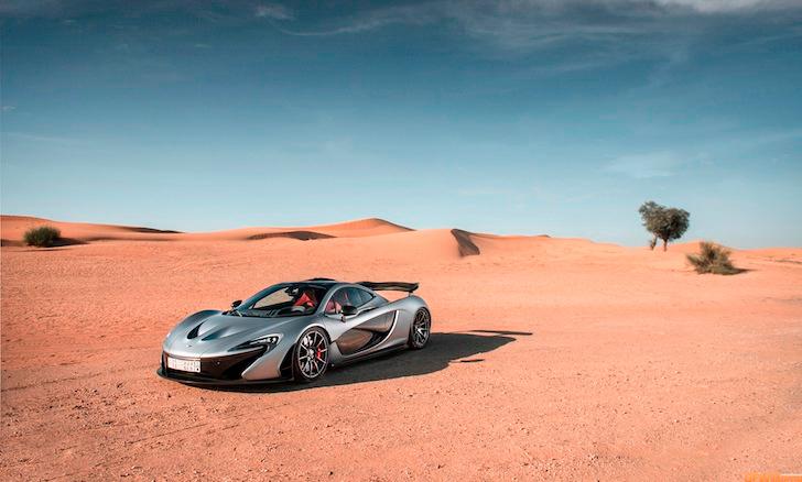 Ngỡ ngàng McLaren P1 khoe dáng giữa sa mạc