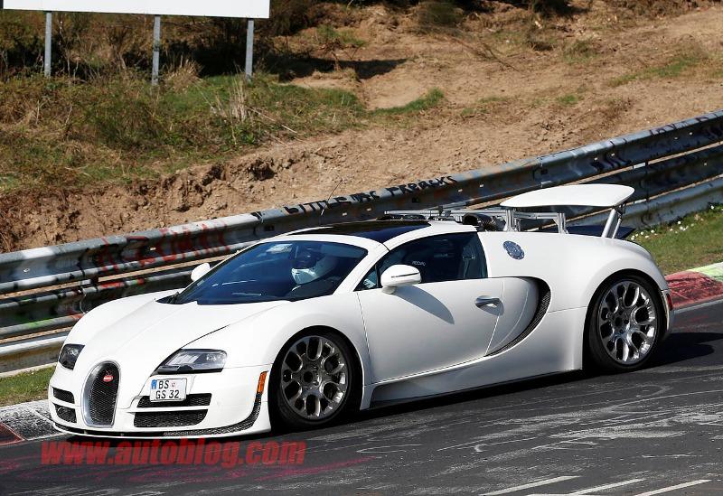 Xe mới của Bugatti lộ diện trên đường thử