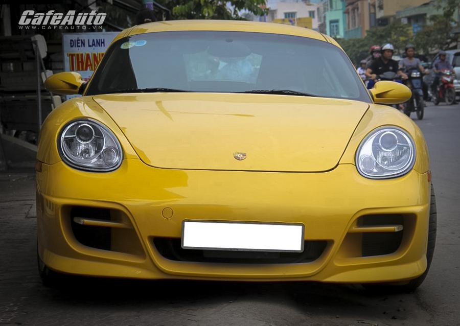 """Ngắm """"ngựa Đức"""" Porsche Cayman S trên đường phố Sài Gòn"""