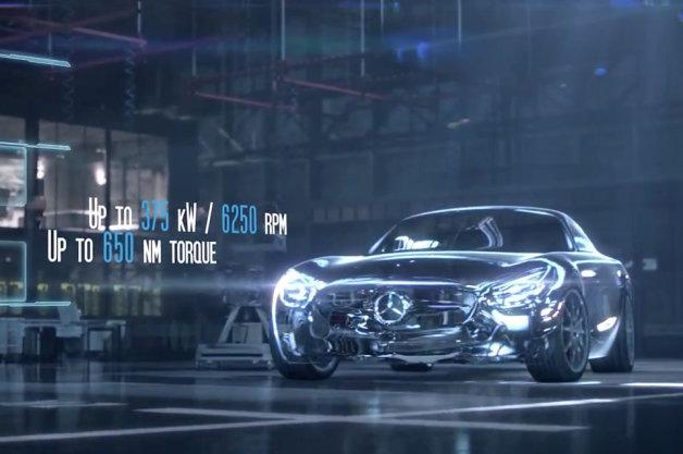 Mercedes-Benz AMG GT tiết lộ động cơ 500 mã lực