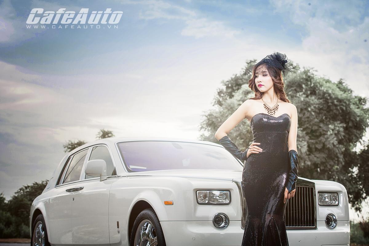 Thiếu nữ đẹp ma mị bên Rolls-Royce Phantom