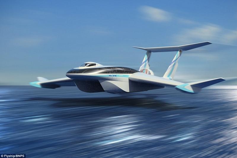 Flyship - Máy bay lai tàu thủy trị giá 37 triệu USD
