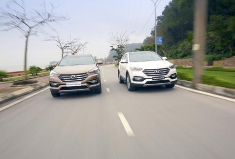 Tìm kiếm 5 điểm mới trên Hyundai SantaFe 2016