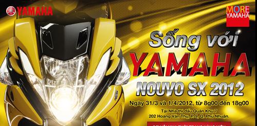 """Tham gia """"sống với Yamaha"""" để lái thử Nouvo SX"""