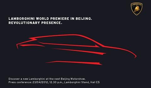 Lamborghini SUV bản phác thảo