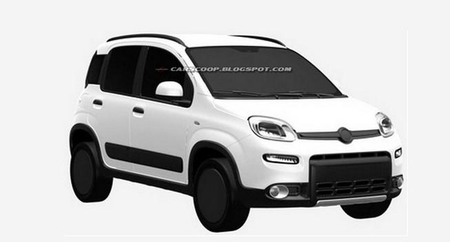 Fiat Panda 4 × 4 2013 rò rỉ hình ảnh