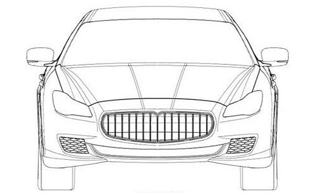 Maserati Quattroporte 2014 lộ bản vẽ phác thảo