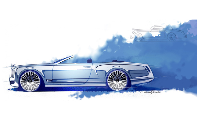 Bentley Mulsanne Convertible Concept lộ bản phác thảo