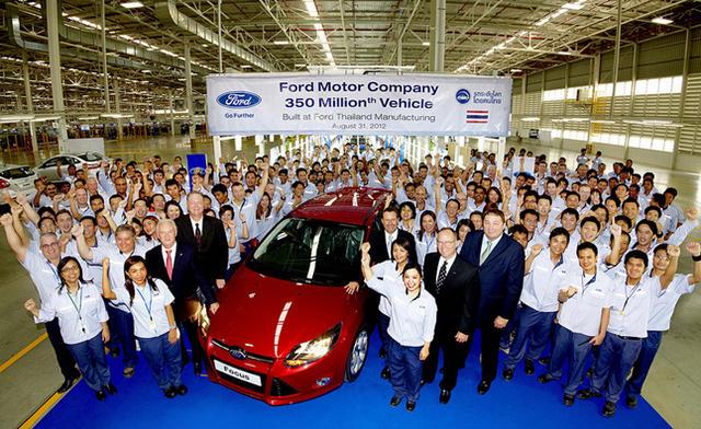 Ford đạt cột mốc 350 triệu xe được sản xuất