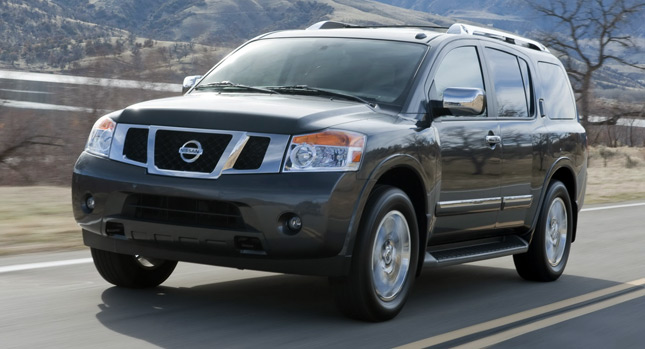 Nissan Armada SUV 2013 nâng cấp cùng với nâng giá
