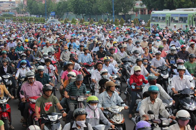 Lượng xe máy đã vượt quy hoạch cho năm 2020