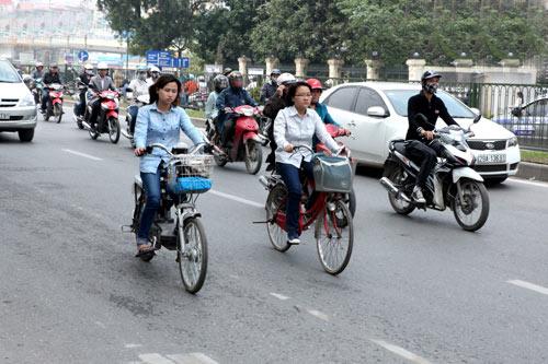 Xe đạp để giảm tắc đường là viển vông
