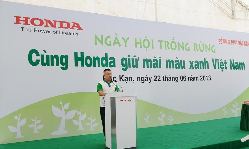 Honda Việt Nam trồng rừng tại Bắc Kạn