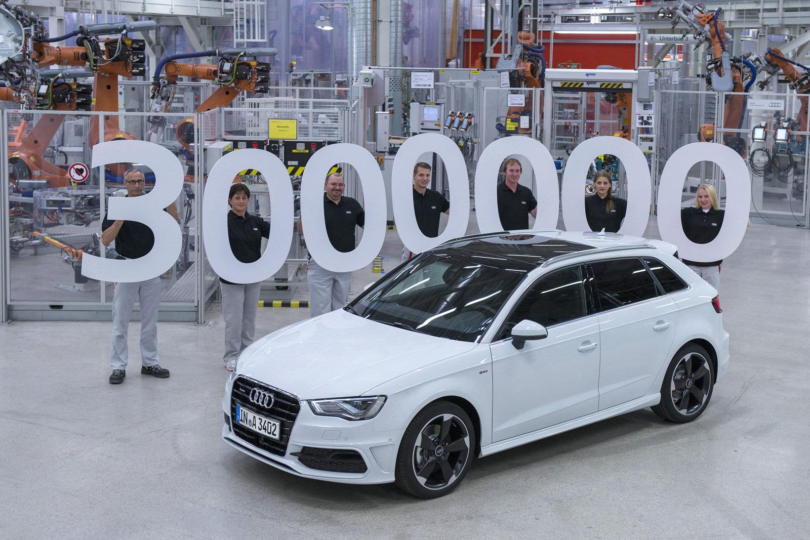 Audi A3 đạt mốc 3 triệu sản phẩm