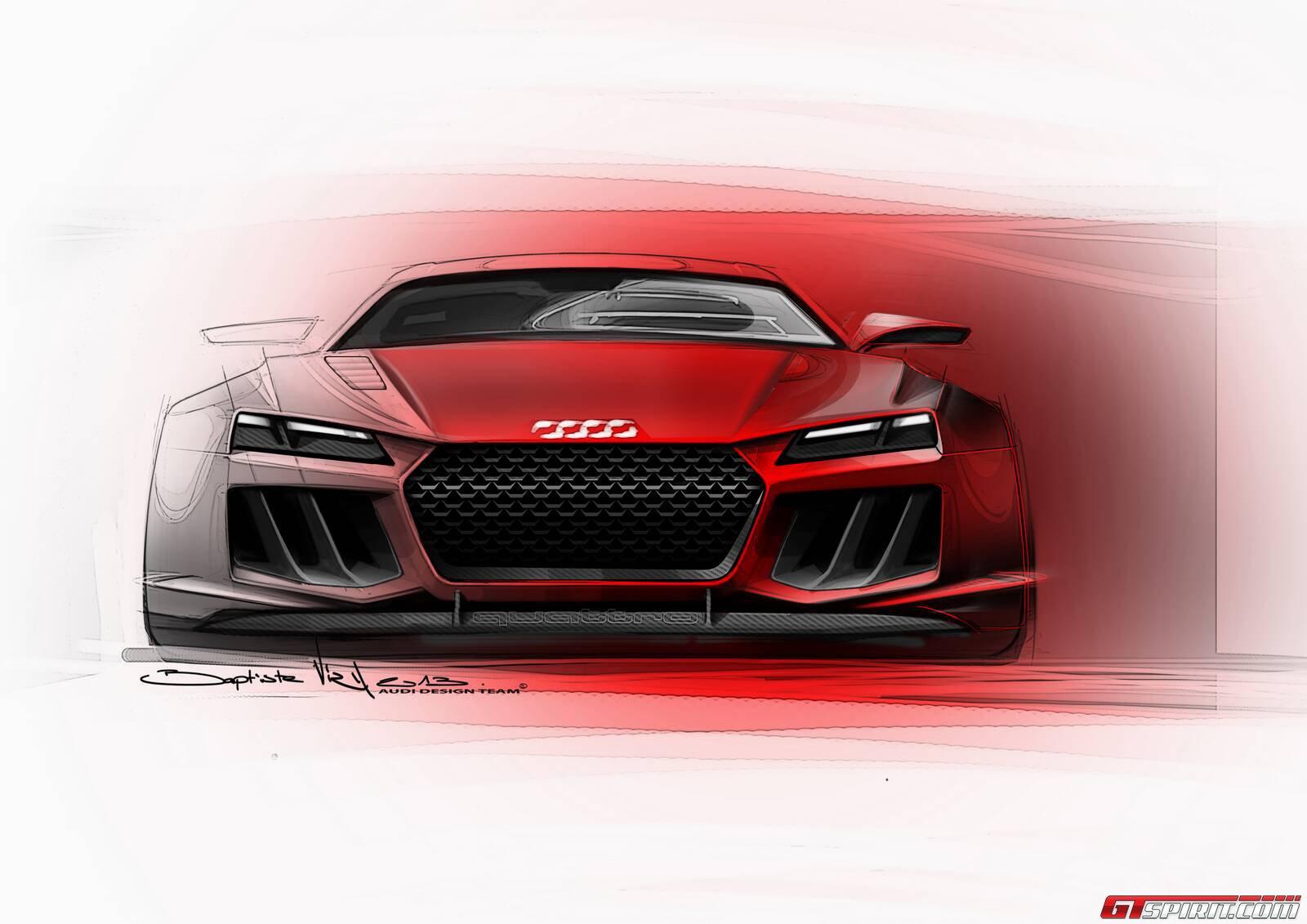 Audi Quattro Concept tiết lộ bản phác thảo