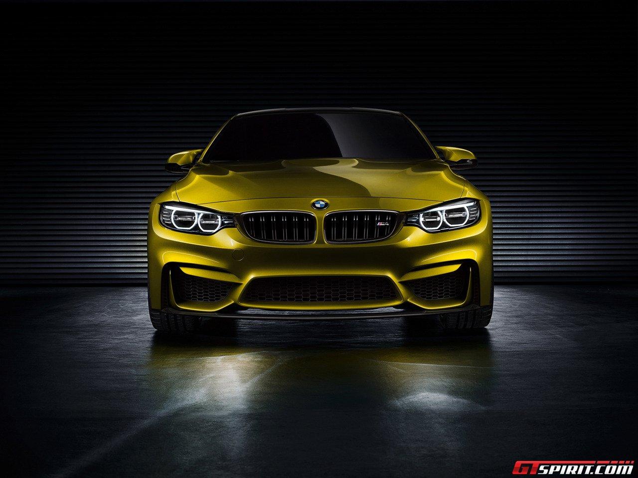 BMW M4 Coupé Concept với sắc vàng ấn tượng