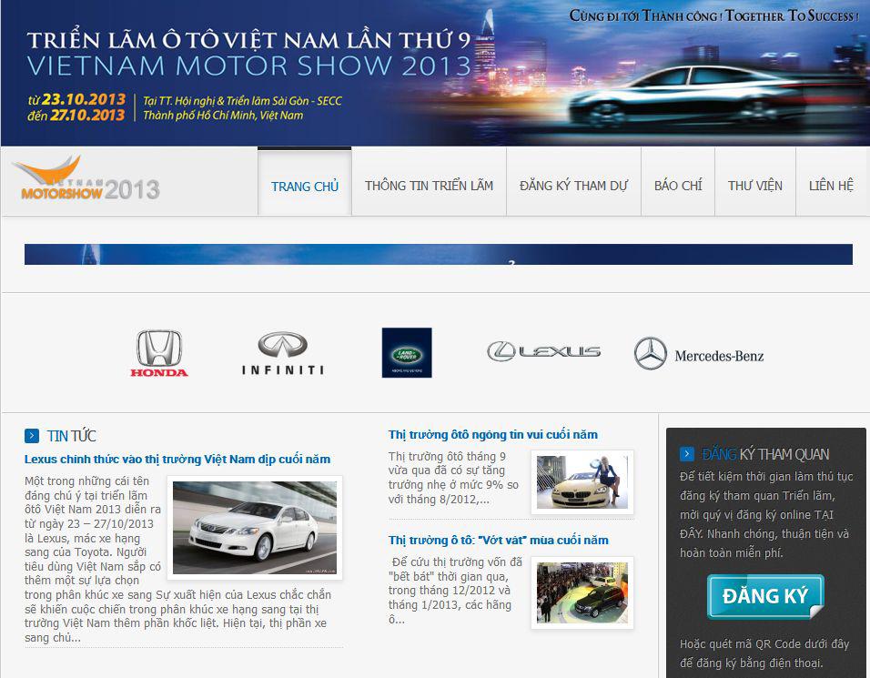 Triển lãm Ô tô Việt Nam ra mắt website chính thức