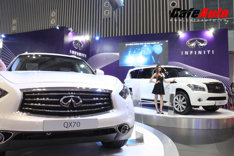 VMS 2013: Ảnh thực tế bộ 3 Infiniti tại Vietnam Motor Show