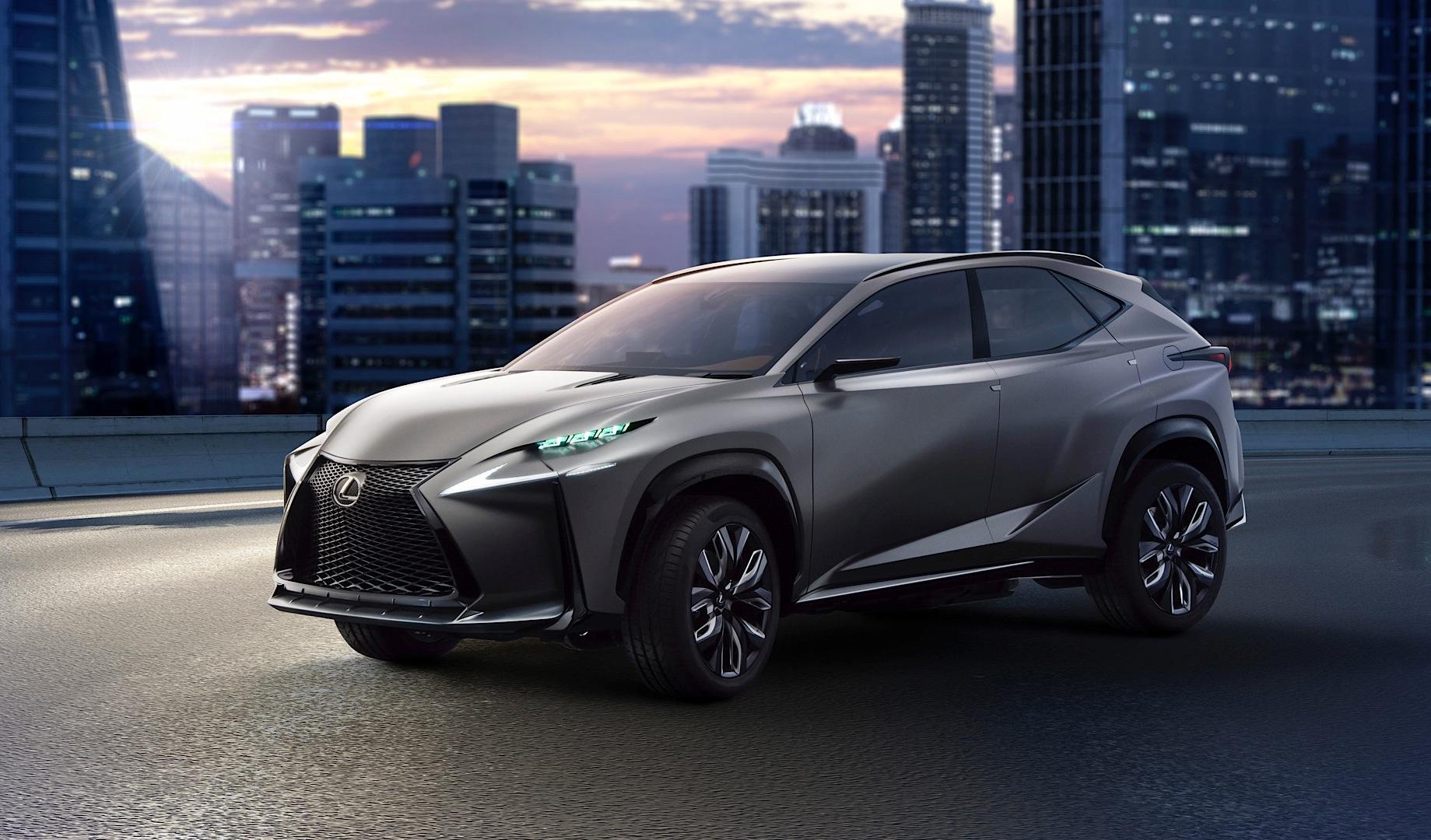 Lexus LF-NX Crossover Concept trang bị động cơ tăng áp đến Tokyo Motors Show