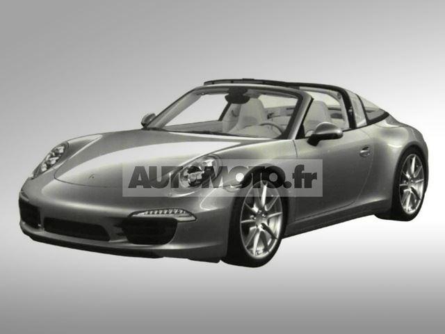 Lộ diện xe mui cắt Porsche 911 Targa