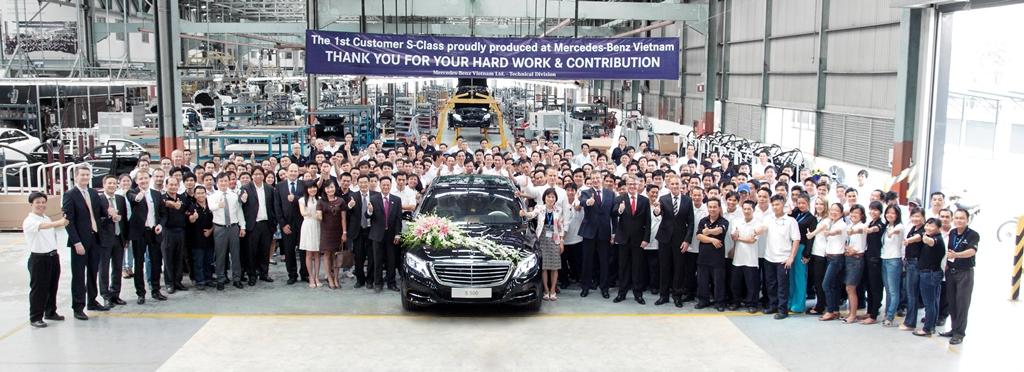 Mercedes-Benz Việt Nam xuất xưởng chiếc S-Class đầu tiên