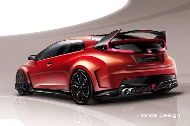 Honda Civic Type R Concept lộ bản vẽ trước thềm triển lãm