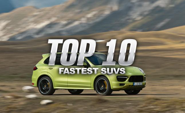 Top 10 xe SUV hạng sang tăng tốc nhanh nhất